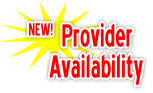 NEW! Provider Availability